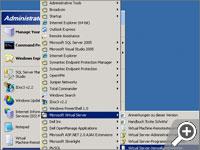 Starten der Virtual Server Verwaltungswebsite